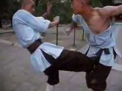 Shaolin monks sparring (rare) Image 1
