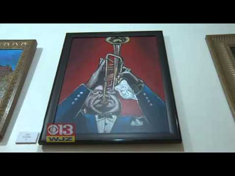 WJZ 13 Baltimore interview @ Mark Cottman Gallery, 7 February 2012. Pt 2