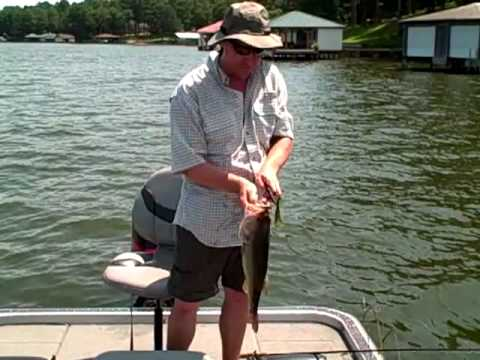 Lake Palestine Texas Bass Fishing Aug 6, 2010