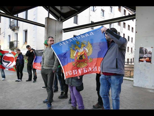 Brigadista atxilotuen aldeko elkarretaratzea. 2015 martxoa