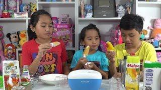 Thử Làm Kem Từ Trái Cây Tươi Và Nước Ép Với Máy Làm Kem KAHCHAN - ICE CREAM MAKER MN Toys