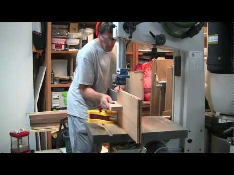 Band Saw Resaw Method - Woodworking - How To Make Wood Veneer Sheets