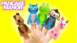 Animal Finger Family Song for Kids | Pancake Manor