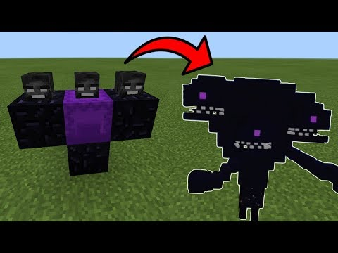 Minecraft PE SECRET: How To Spawn the Wither Storm
