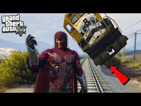 MAGNETO LIFTS TRAIN OFF TRACK - GTA 5 Mods