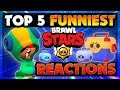 Brawl Stars Top 5 Funniest Reactions to Unboxing Leon (RIP Kairos & DLG)