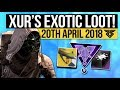 Destiny 2 | XUR BECOMES META! - Xur Location & Exotic Weapon / Armor Inventory! (20th April) MP3