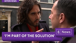 "Russell Brand-High Voiced Snide Progressive Sissy Puts Left Hand ""Superior"" Control On Goyim Cow"