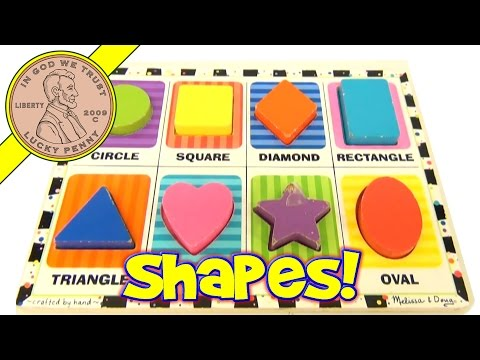 Melissa & Doug Chunky Colorful Shapes Wood Puzzle YouTube Toy Video Reviews For Kids Toysreview