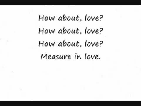 Seasons of Love lyrics Lyric Video