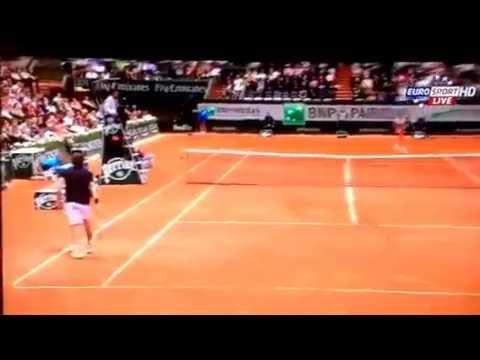 Ernest Gulbis - Roger Federer Roland Garros 2014 01/06/2014