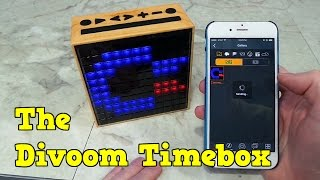 Checking out the Divoom Timebox for Pixel Art and Music.