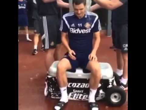 Sunderland's Adam Johnson Ice Bucket Challenge