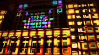 Projection show in Moscow.