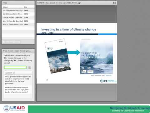 CEADIR Series: Green Bonds and Innovative Climate Financing Mechanisms