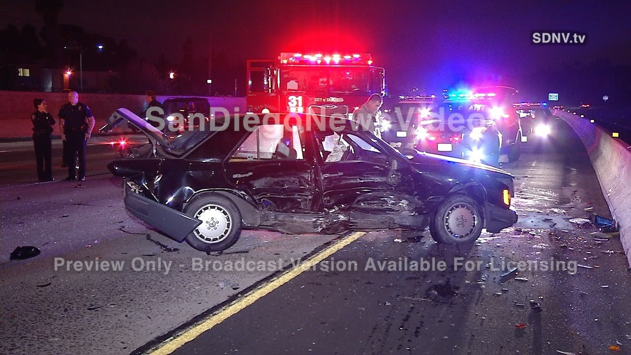 ONE DEAD IN HIGH-SPEED FREEWAY PILE UP - SCENE