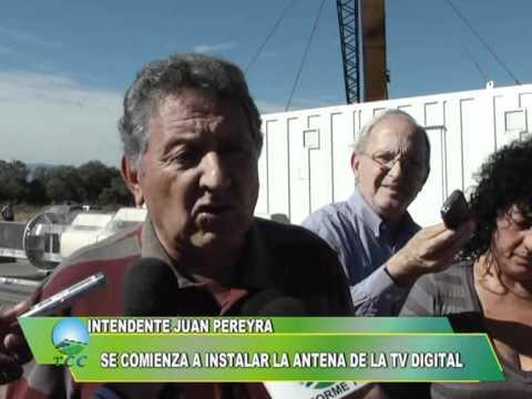 SE COMIENZA A INSTALAR LA ANTENA DE LA TV DIGITAL