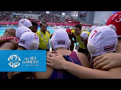 Waterpolo Women's Thailand vs Singapore | Half Time Highlights | 28th SEA Games Singapore 2015