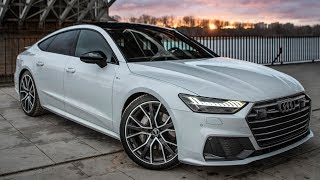 NEW RS7 ON THE WAY! 2019 AUDI A7 SPORTBACK 50TDI - Most beautiful Audi? Glacier white/black optics
