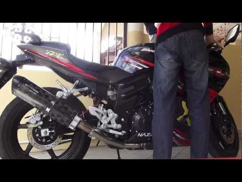 Naza Blade650R \ Hyosung GT650R Two Brothers Edition exhaust sound ( very short revs )