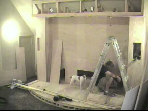 Media Room Construction Time Lapse