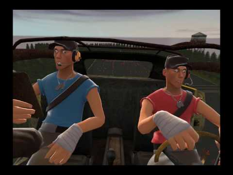 Team Fortress 2: Moments with Heavy - Heavy Takes his Driving Test