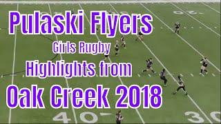 Pulaski Flyers Highlights from Oak Creek. Girls ruby, Funny Ending.