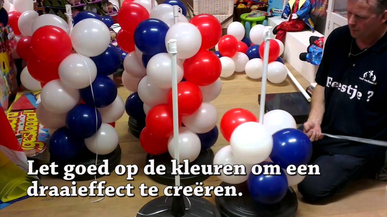 Zelf een ballonnenboog maken youtube for Ballonnen versiering zelf maken