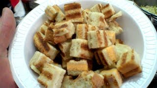 OMG! - Freeze Dried  Grilled Cheese Croutons for SOUP in a Harvest Right Home Freeze Dryer!