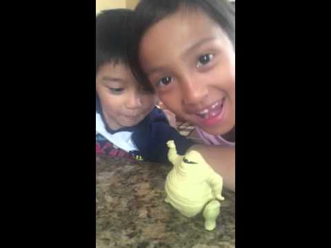 little brother being video bombed by sis doing the Whip Nae Nae