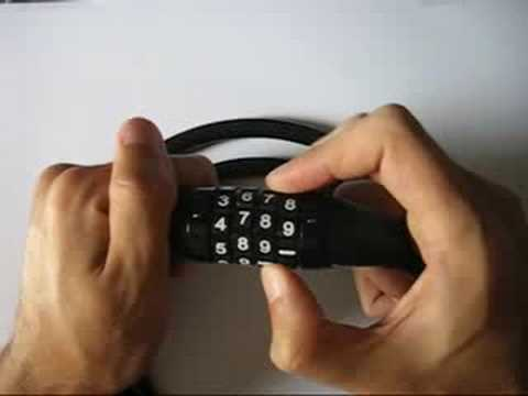 Lockpicking combination MasterLock 8119DPF