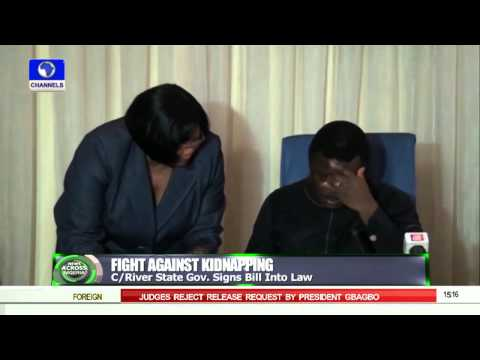 News Across Nigeria: Kidnappers Face Death Penalty In Cross River -- 08/09/15