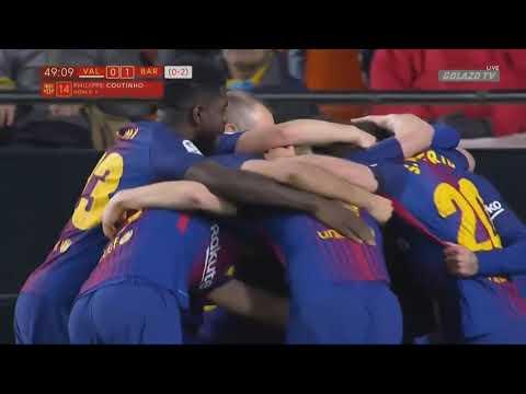 Valencia vs Barcelona 0 2   All Goals & Extended Highlights   La Copa 08 02 2018 HD thumbnail