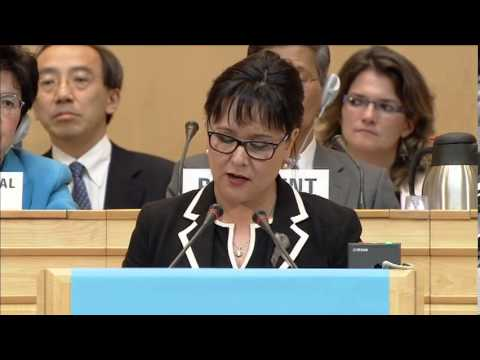 Leona Aglukkaq, Minister of Health of Canada at 66 World Health Assembly