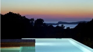 Ibiza villa rent with sea and sunset views  |  Ibiza villa affitto con piscina infinity e vista mare