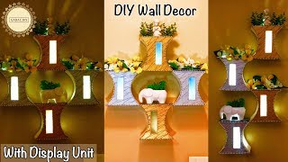 Wall decor with Display | Wall Hanging Craft Ideas | Wall hanging ideas diy | Unique wall hanging