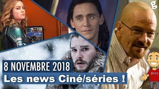 Loki faux script / Captain Marvel hotline / Walter dans Breaking Bad ? / GOT titre / etc ...