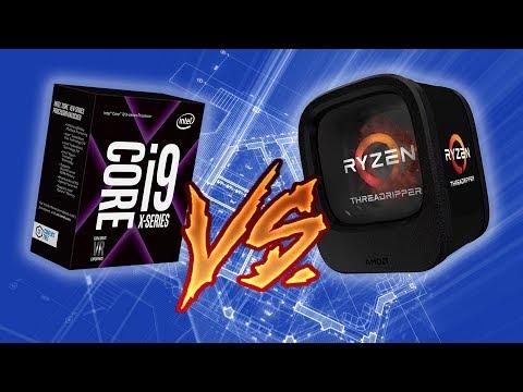 AMD Ryzen Threadripper 1950X vs Intel Core i9-7900X em apps profissionais