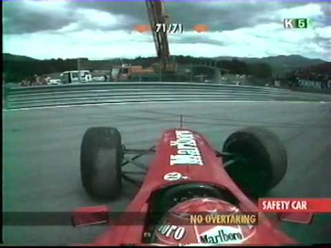 Michael Schumacher 2000 Austrian GP onboard start crash