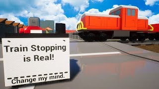 Lego Train Stopping is Real! Change My Mind - Brick Rigs Multiplayer Gameplay