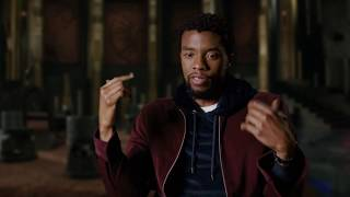 """BLACK PANTHER """"T'Challa"""" Interview - Chadwick Boseman"""