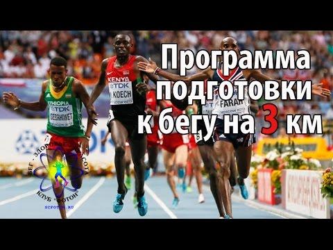 Программа подготовки к бегу на 3 км