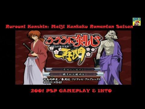 Rurouni Kenshin Meiji Kenkaku Romantan Saisen PSP (2011) Intro & Gameplay HD