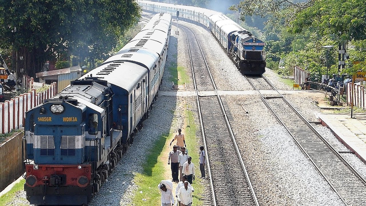 Epic Rarest Ever Overtake By Late Running Train   Indian