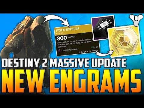 Destiny 2 BIG NEWS - New Fated Engrams, New Weapon Tier/Class - Masterworks, 3 Of Coins & Ranked PvP