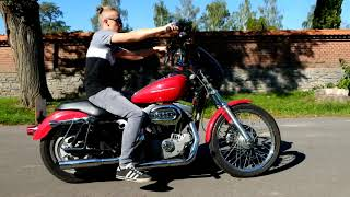 Harley davidson sportster 883c cold start and ride