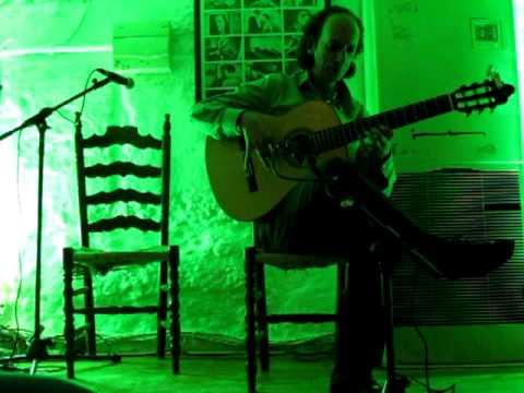 flamenco guitar at Le Chien Andalou, Granada, Spain. Guitarist: Emilio Maya
