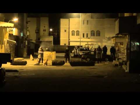 Bahrain  clashes between protesters and regime mercenaries in aldair area 2 2 2013
