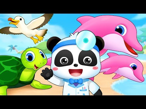 Sea Animal Doctor Song | Doctor Cartoon, Ambulance, Police Car | Kids Songs | Kids Cartoon | BabyBus