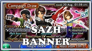 Sazh Summer Banner - Dissidia Final Fantasy Opera Omnia